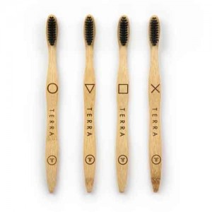 Bamboo Tooth Brush - Adult Black (கருப்பு பற்குச்சி)