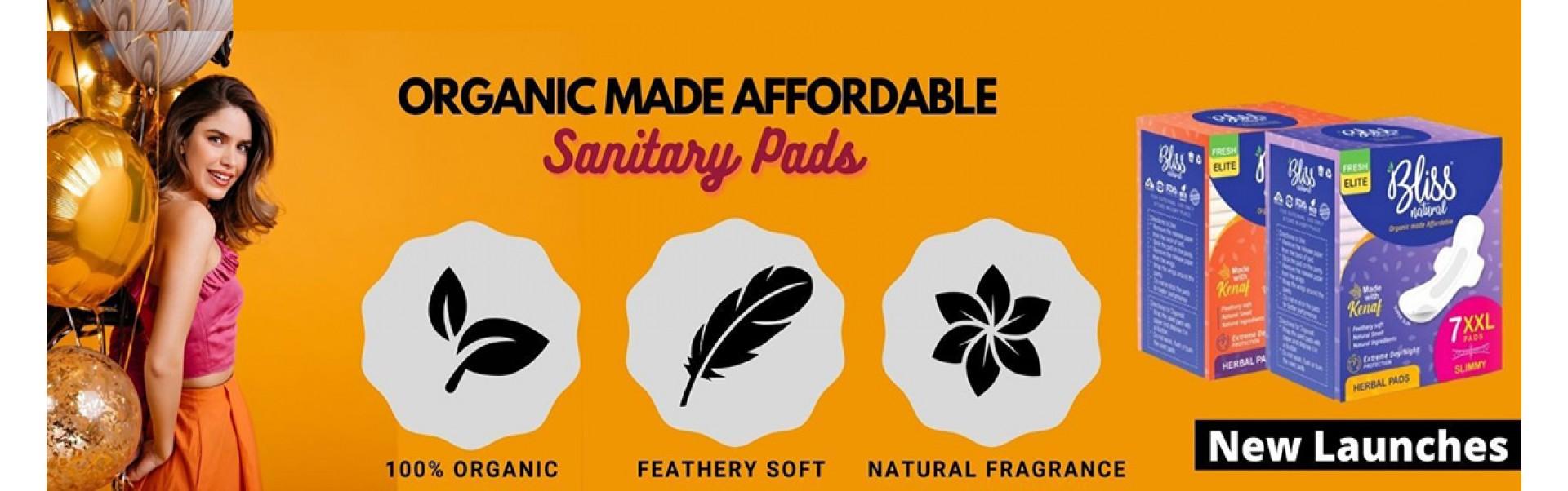 Organic biodegradable Sanitary Bliss Pads