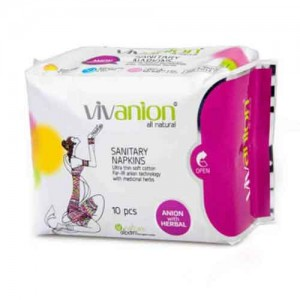 Vivanion Organic Cotton Sanitary Pad (1Unit x10 Pads)